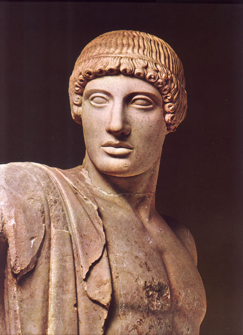 The form of Apollo from the west pediment of the temple of Zeus in Olympia, around 460 B.C., .jpg